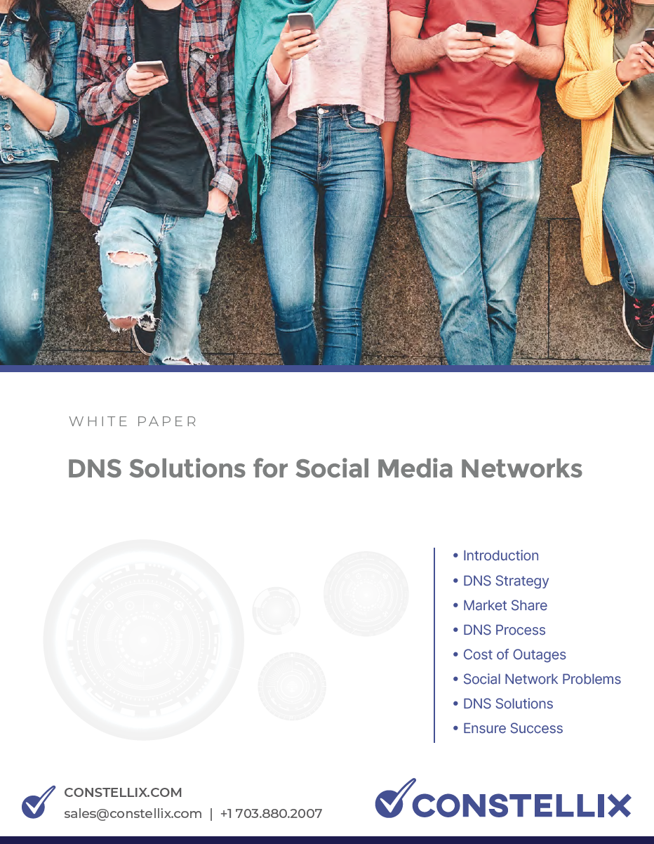 Social Media Networks DNS White Paper - Solutions and Strategies for Better performance and uptime utilizing - Multi CDN, Failvoer, Load Balancer, Global Load Balancing