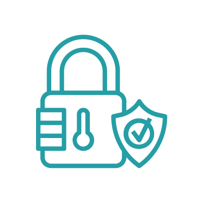 Icon with lock and security