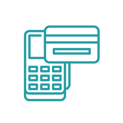 Icon with calculator, low fees