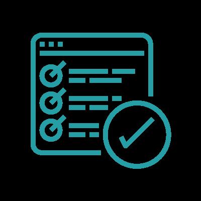 Eliminate confusion icon, checklist