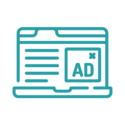 Icon for eliminate rejected ads