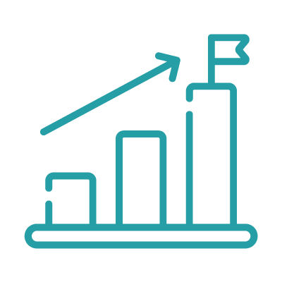 Graph icon for data-informed decisions