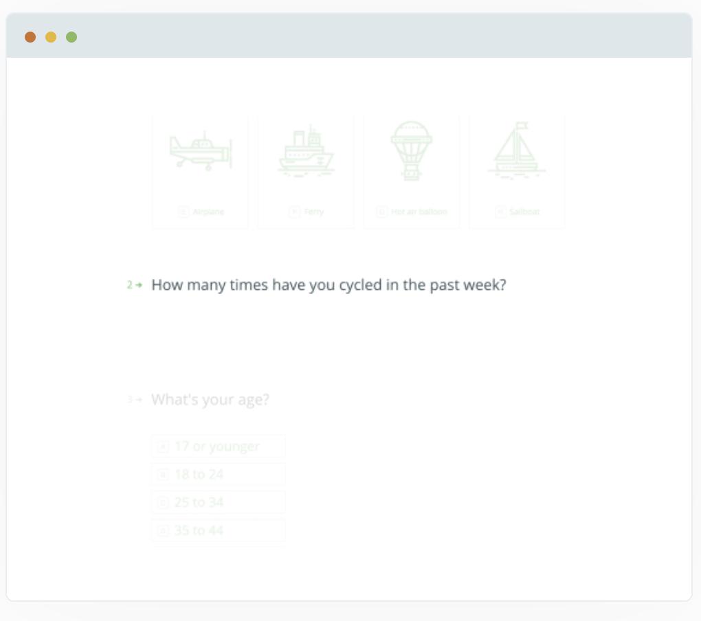 Using Typeform to create a survey