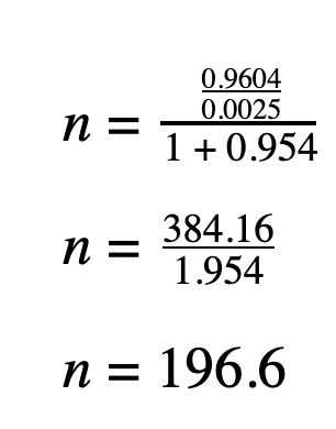 sample size calculation 3