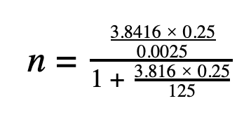 sample size calculation 2