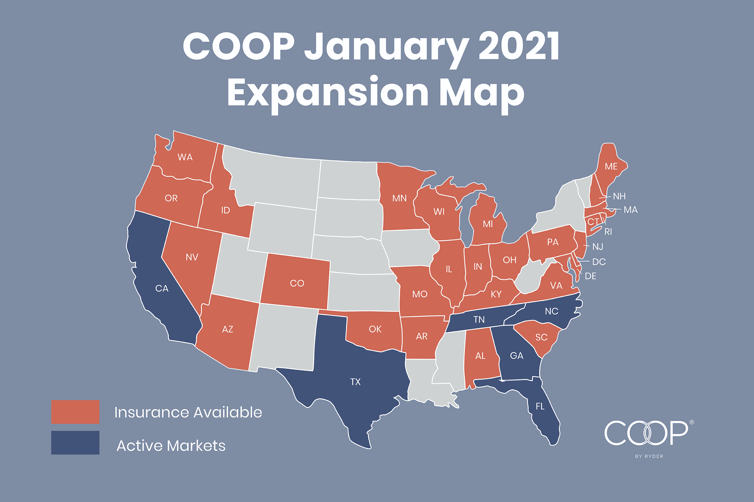 COOP January 2021 Expansion Map