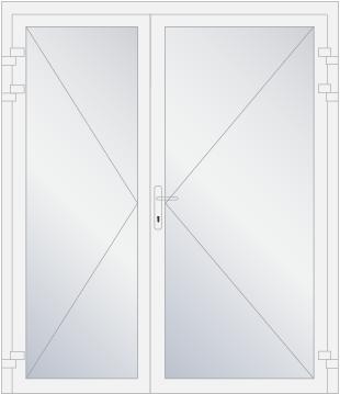 Openslaande deuren Kunststof