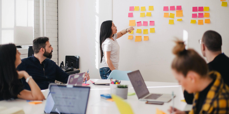 Big photo meeting team Bolden Ventures in office