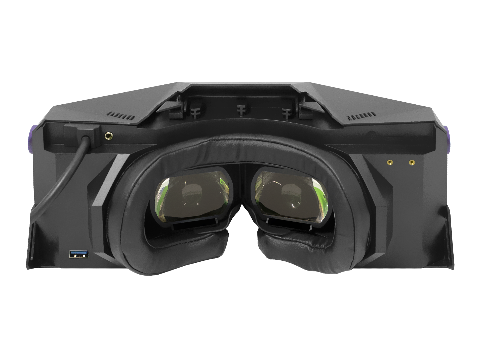 XTAL 8K professional VR headset lences view without head-strap