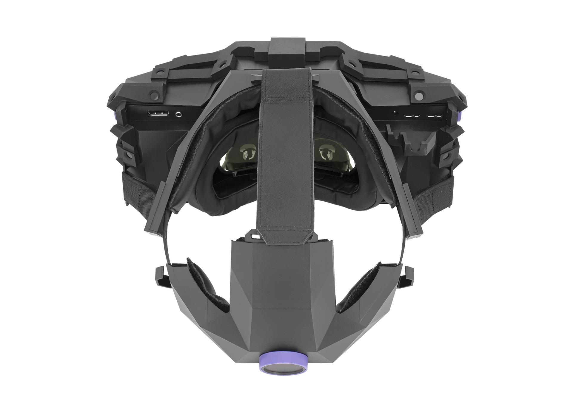 XTAL 5K high-end VR headset top head-strap view