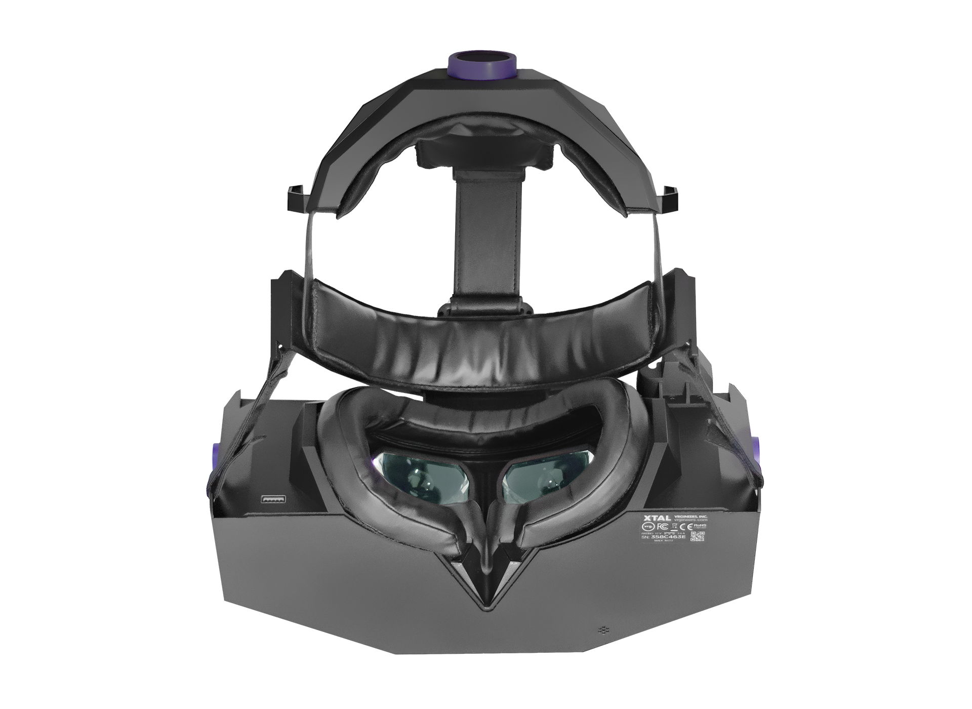 XTAL 5K high-end VR headset bottom view lence exposed