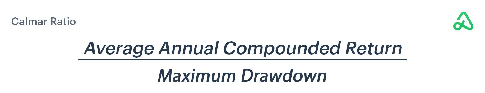 Calmar ratio formula