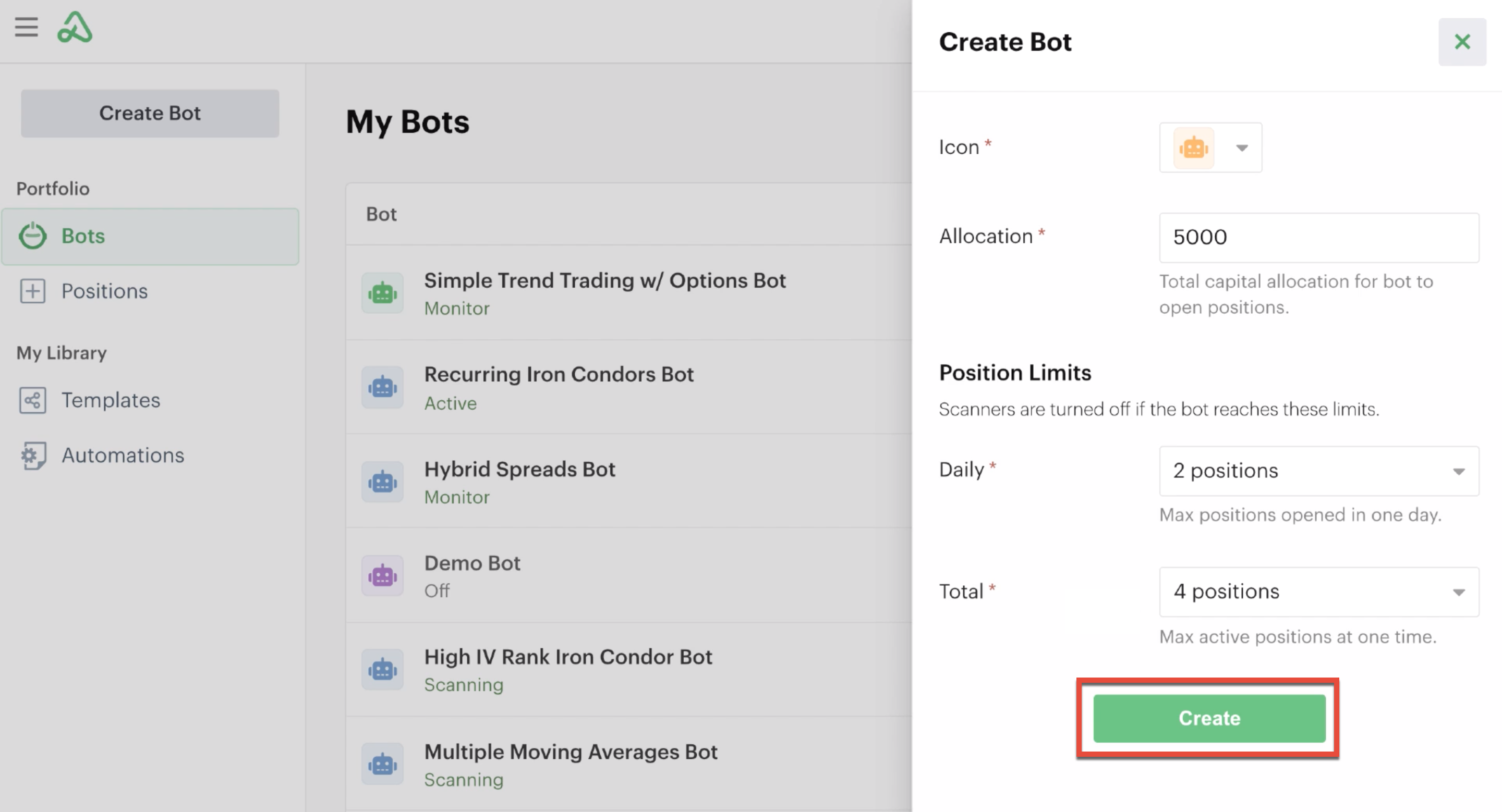 New bot ready to be created