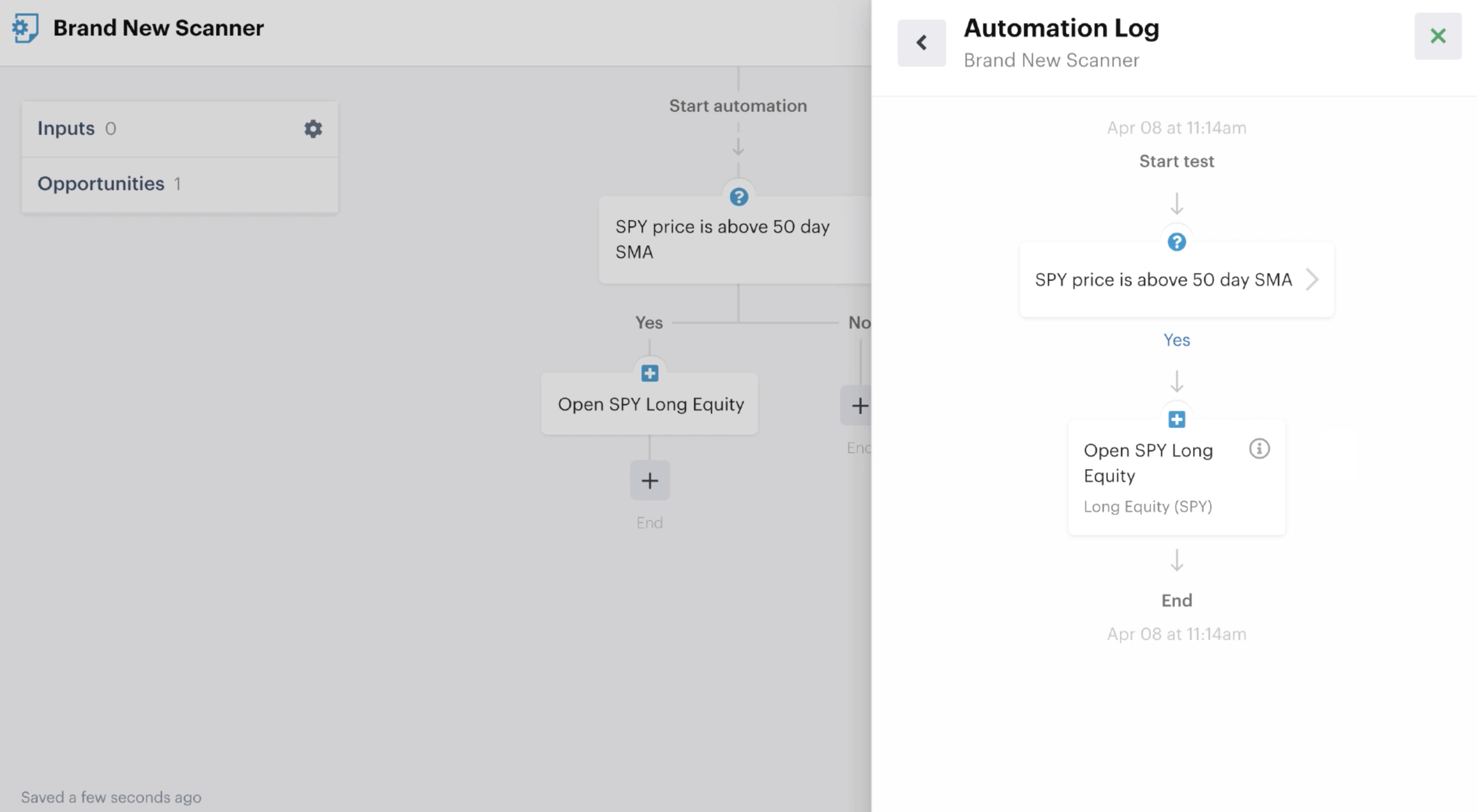 Test of an automation