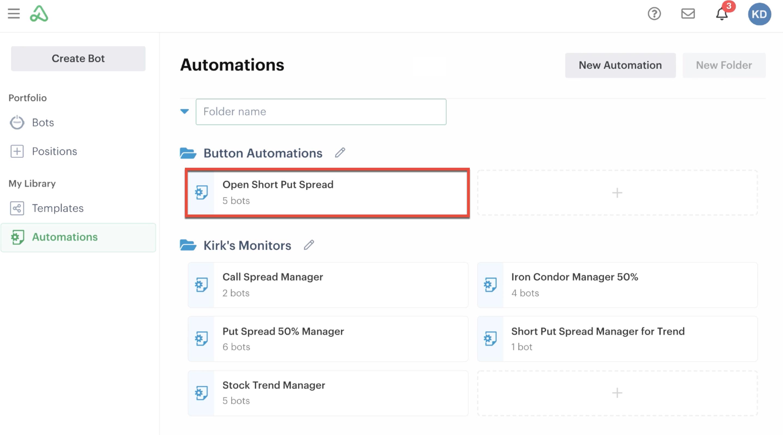 Bots using automation