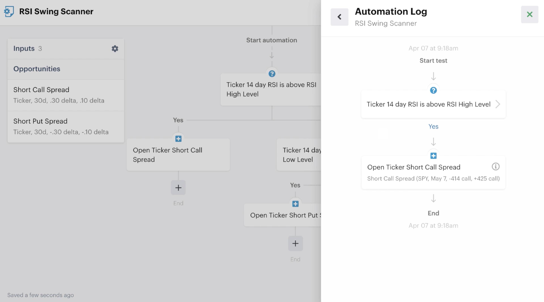Automation log bot test