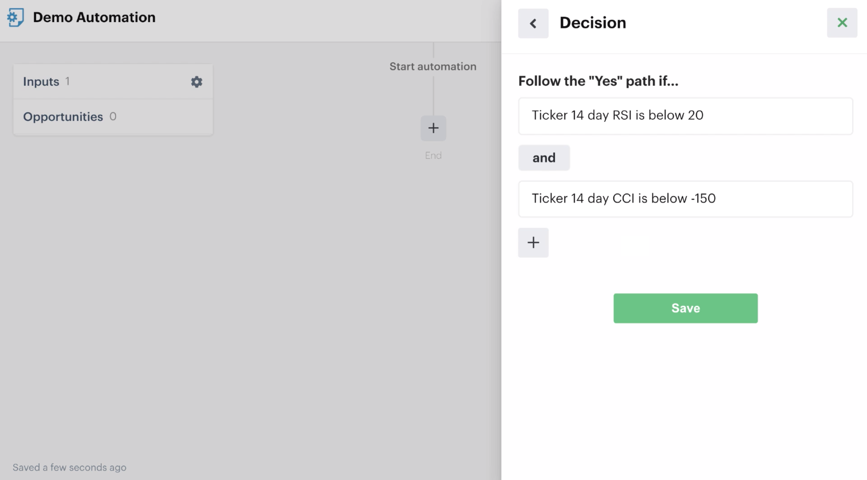 """Decision recipe with """"And"""" function to group multiple decisions"""