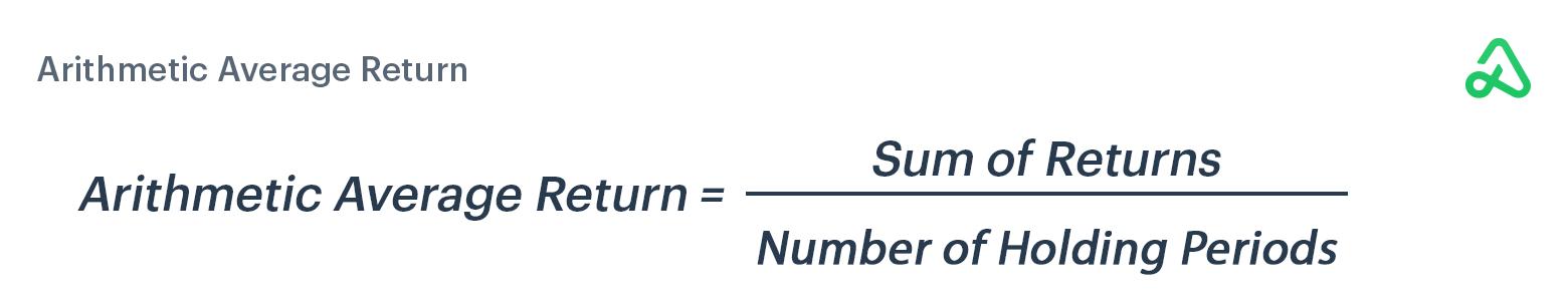 Arithmetic average return formula