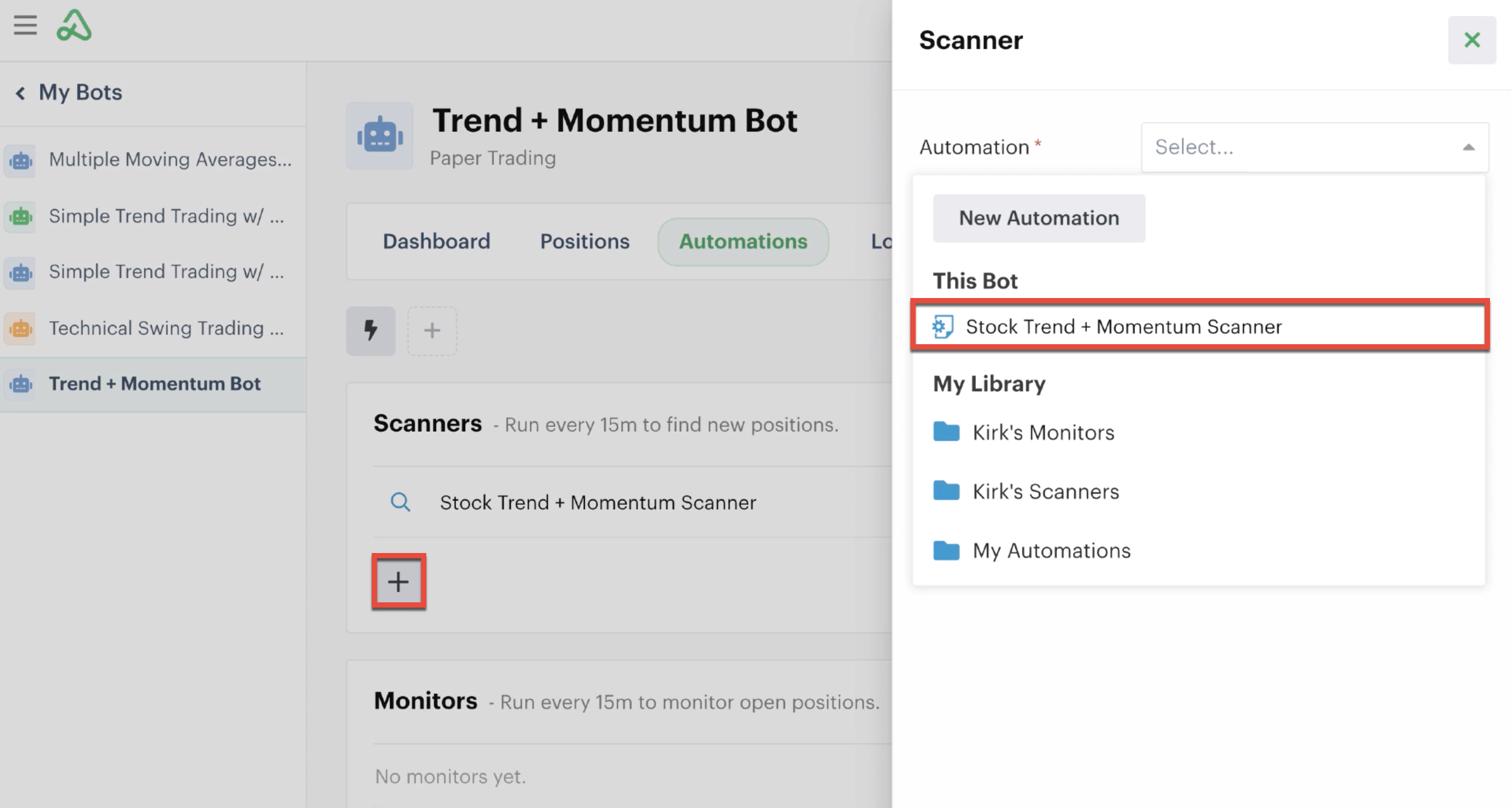 Adding an additional scanner automation copy