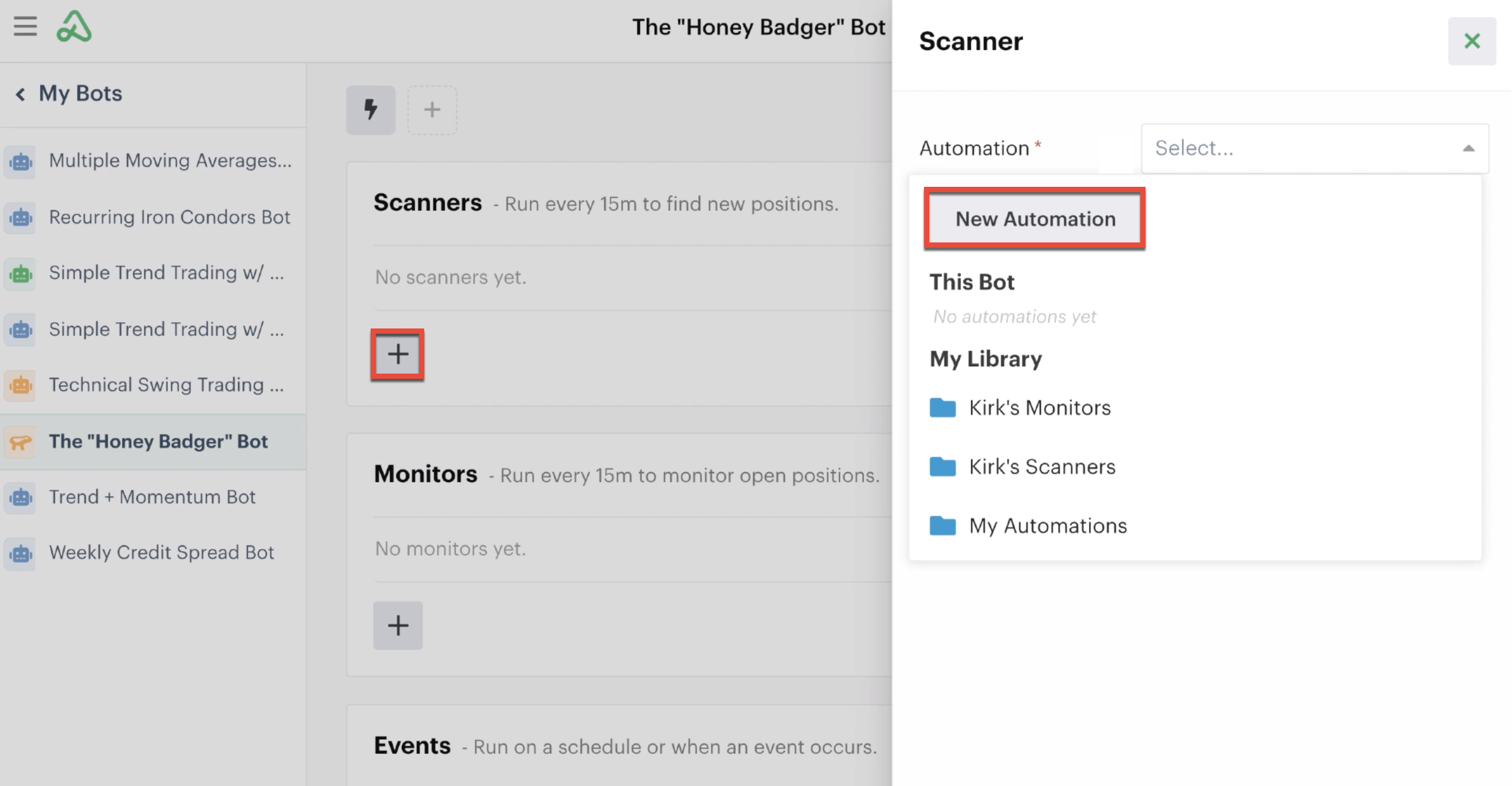 Adding a new scanner automation