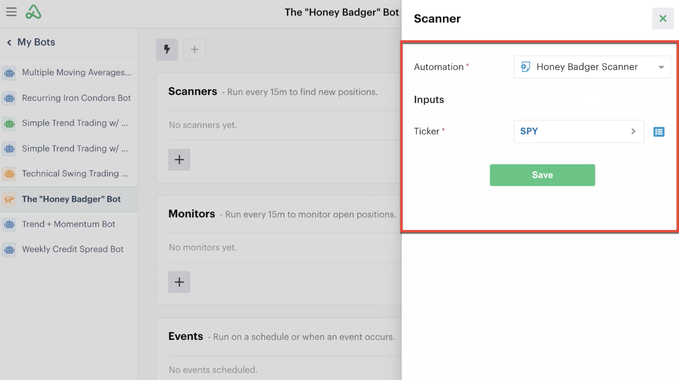 Scanner automation details