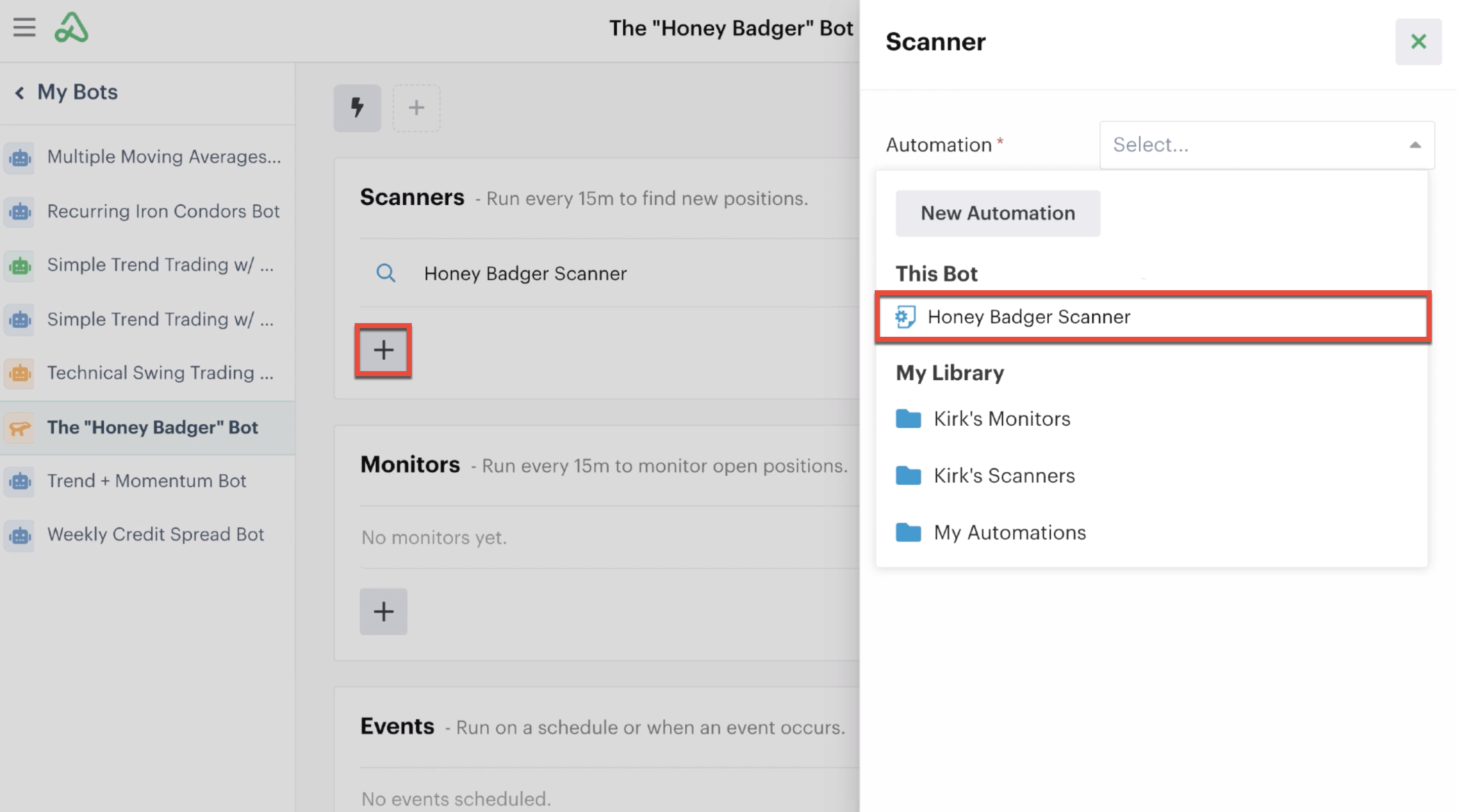 Reusing a scanner automation