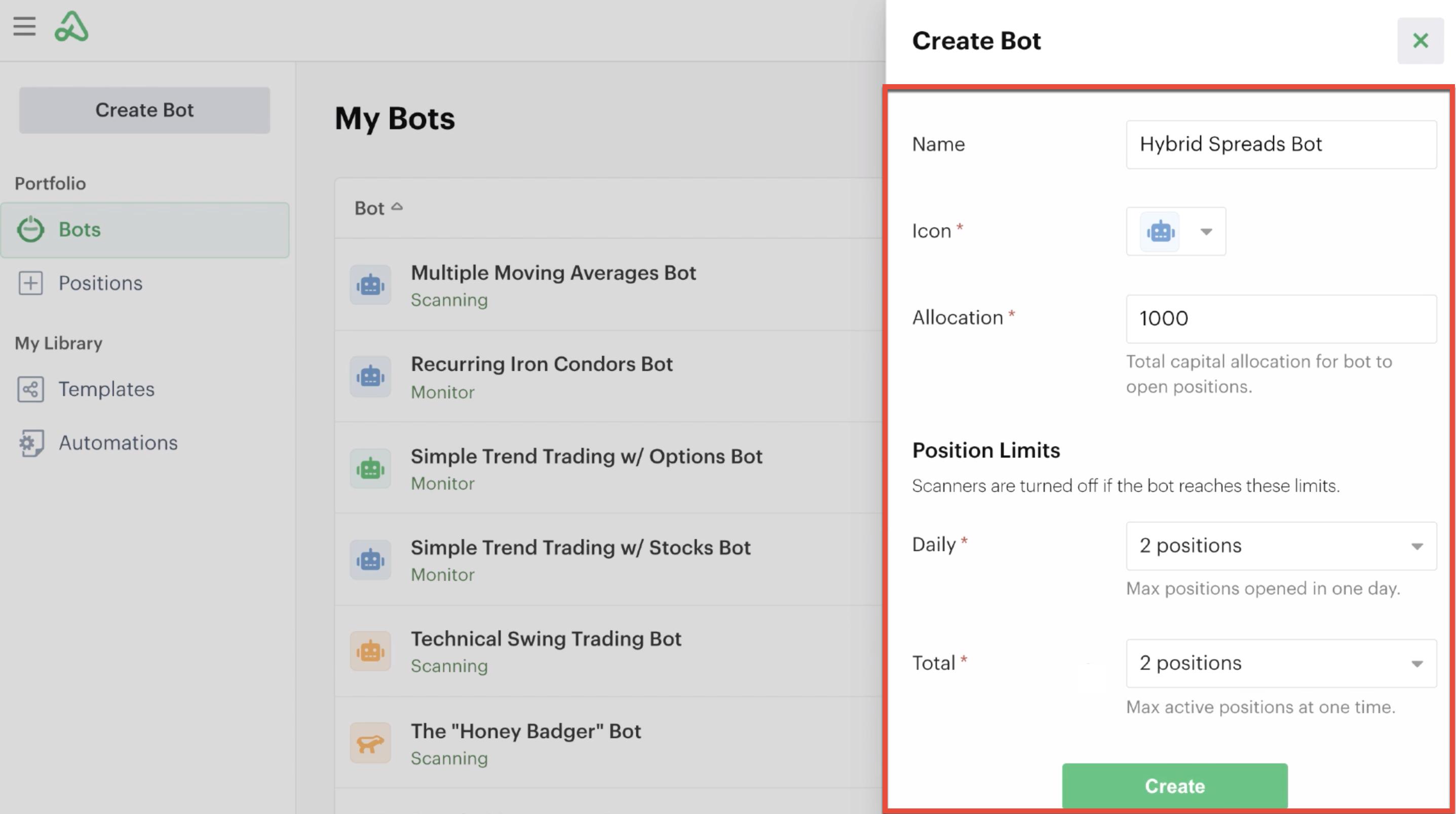 Bot global settings