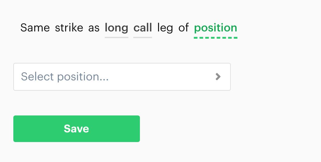 "Screenshot of new ""same strike"" decision recipe - 2"