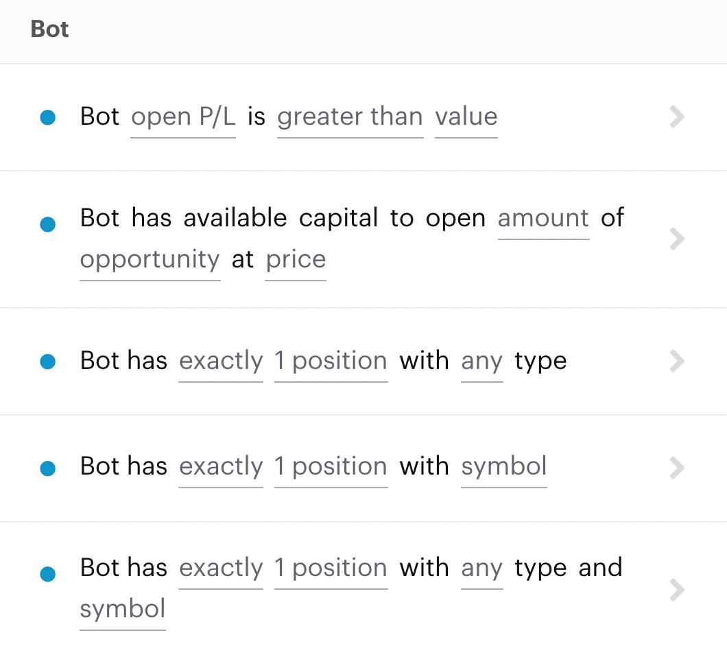 Bot-level decision recipe display