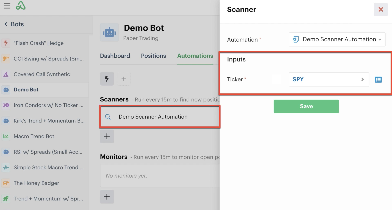 Assign custom input field