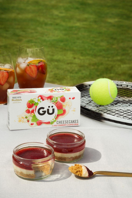 Wild Strawberry & Clotted Cream Cheesecake tennis