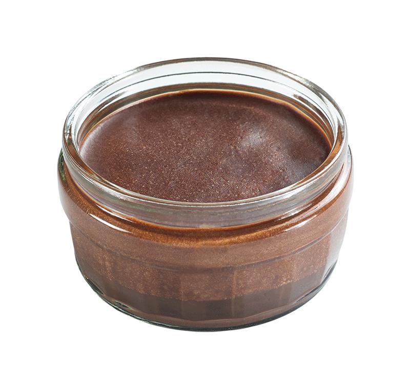 Dark Chocolate Mousses with Ganache