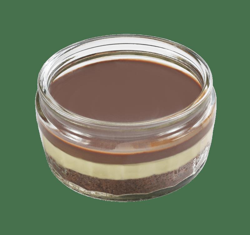 Chocolate & Vanilla Cheesecakes