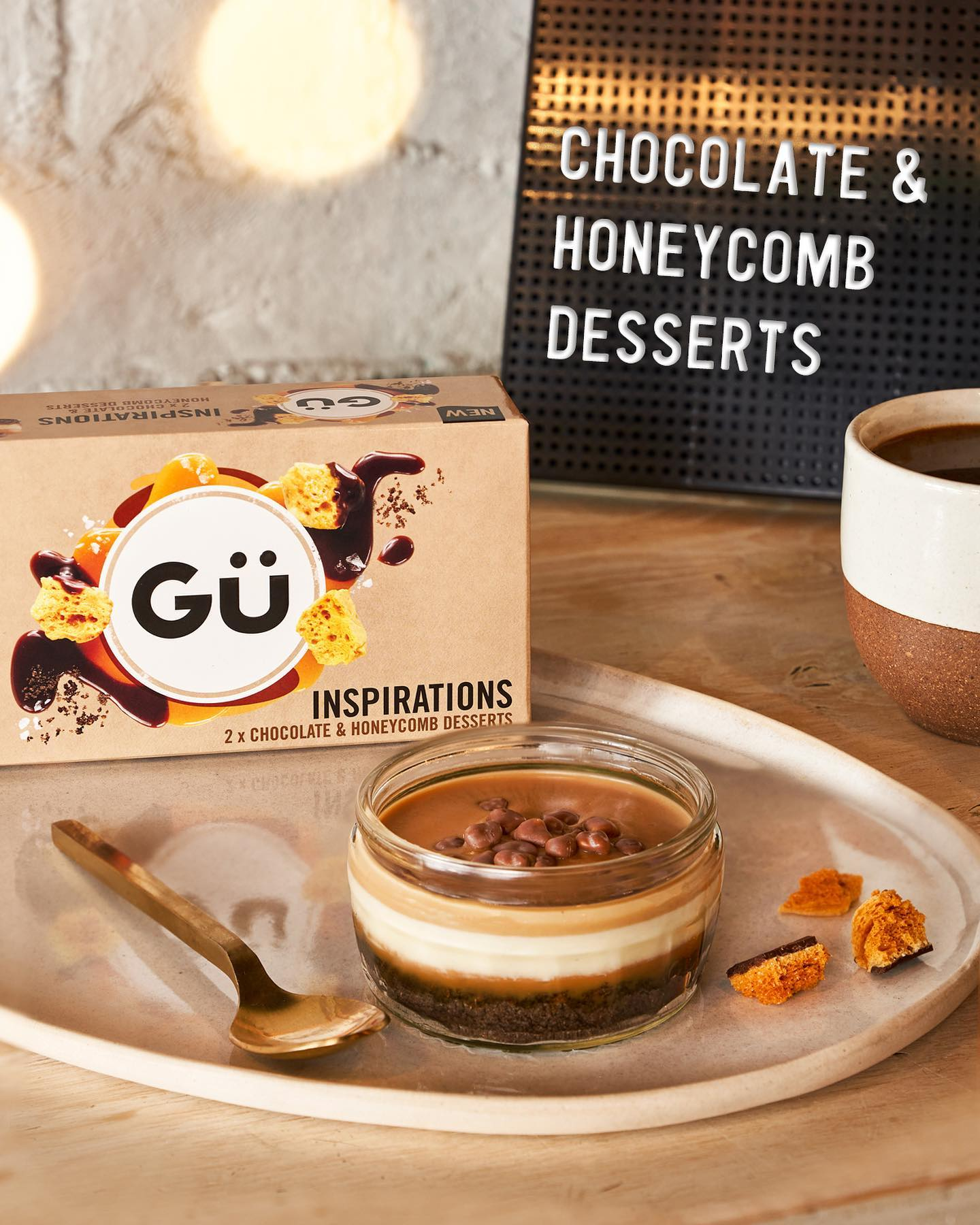 Choosing which Gü to have just got even harder... our new Gü Inspirations Cookies & Cream, Chocolate & Honeycomb and Red Velvet desserts are available now in Sainsbury's & Waitrose stores!