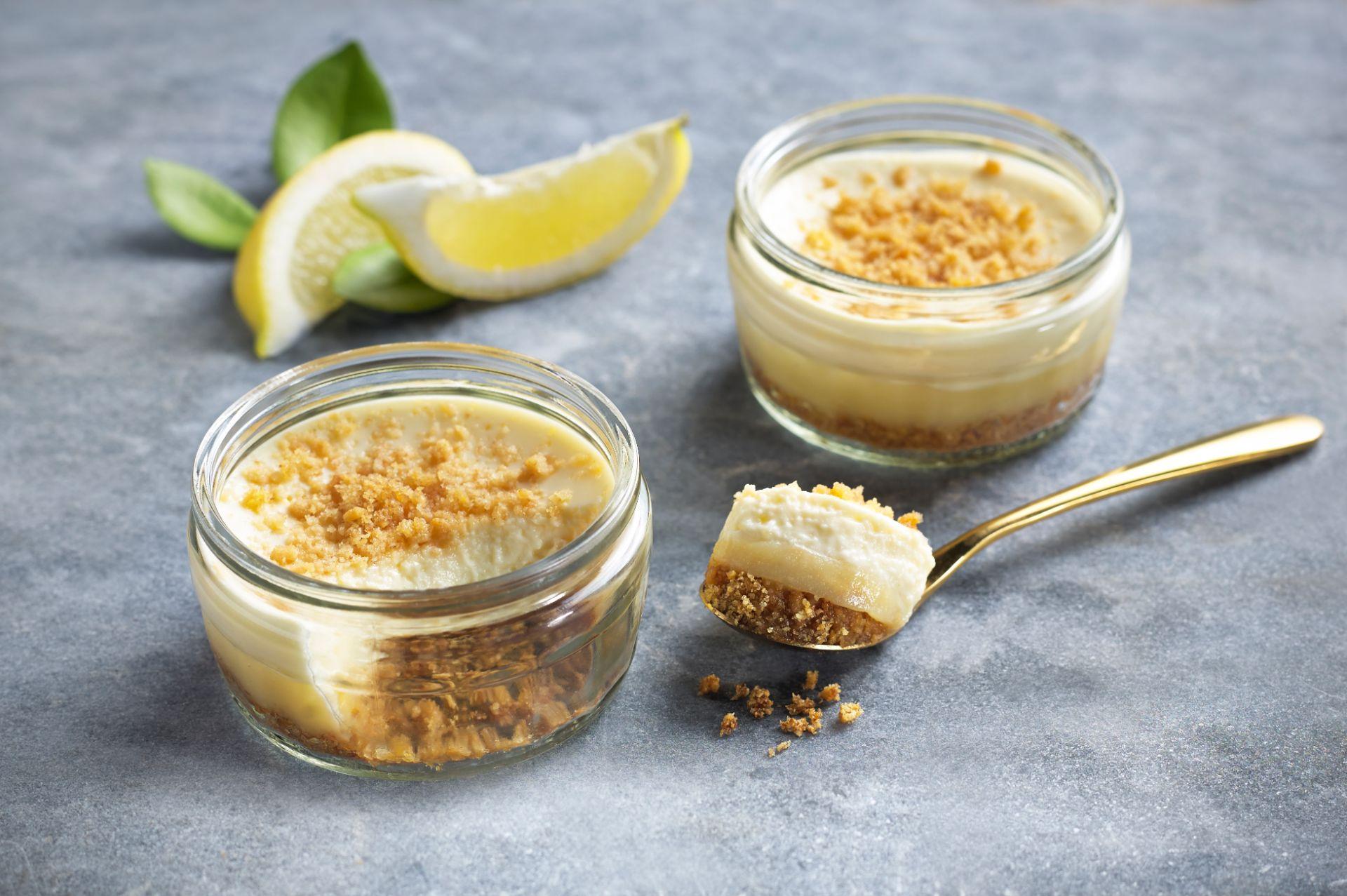Gü Lemon cheesecake on glass plate