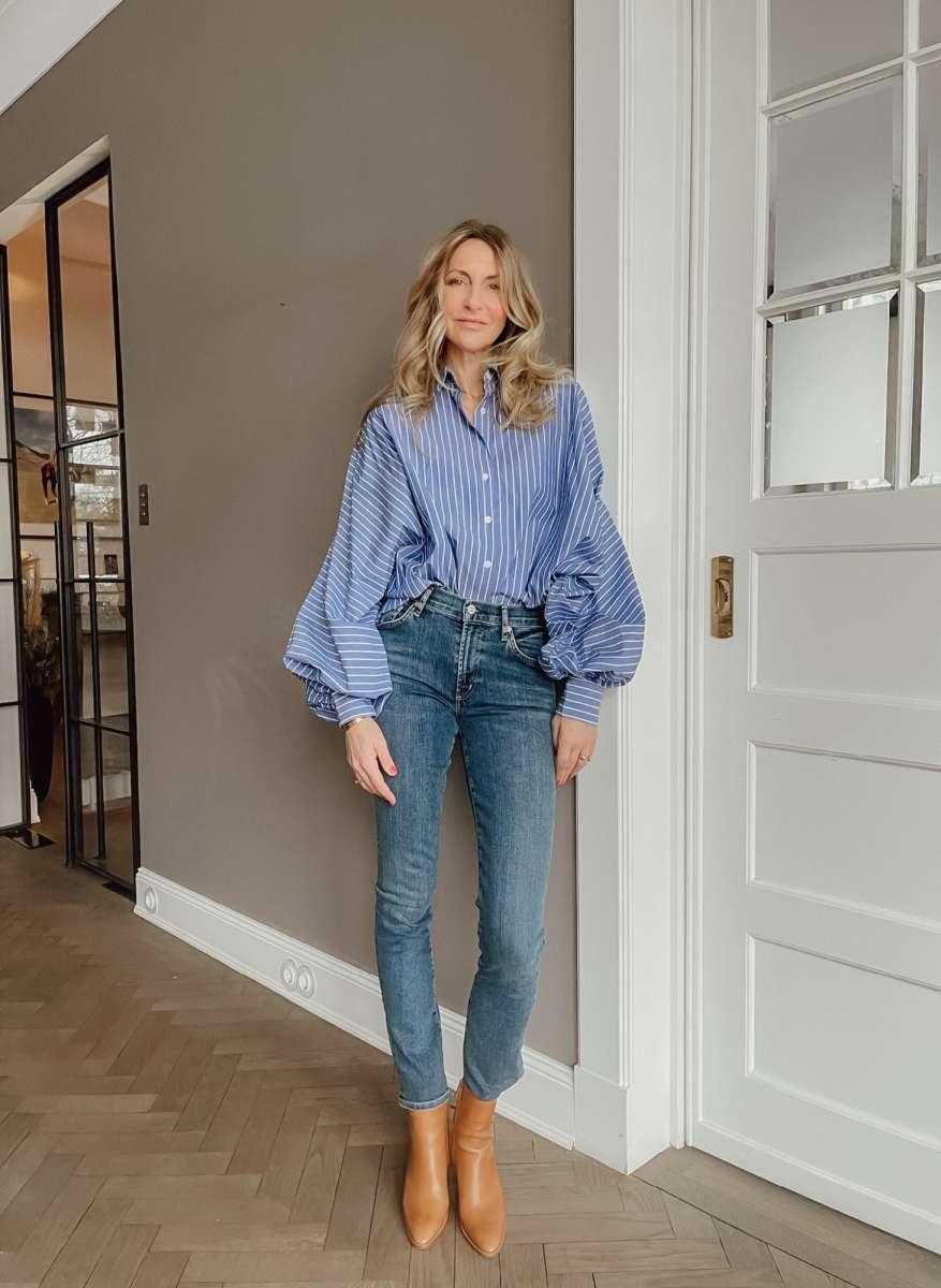 Antonia Stripes Blau-Weiß
