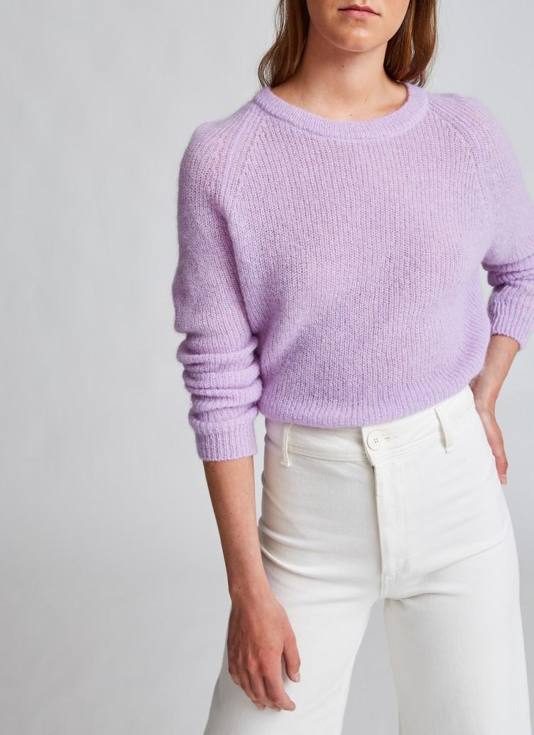 Pullover Fluffy Knit Flieder