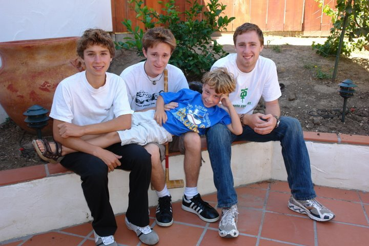 Thanksgiving Photo form a bygone era: Pictured from left to right (Asher, Leo, Max, yours truly)