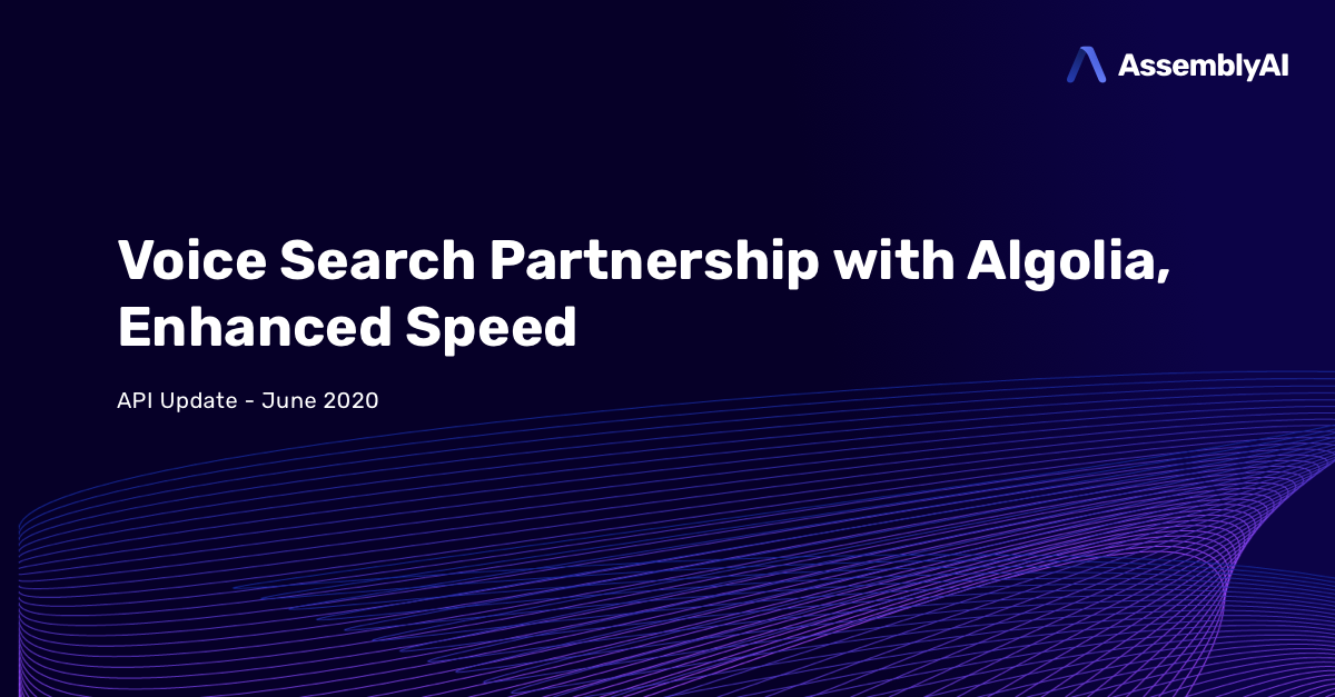 Voice Search Partnership with Algolia