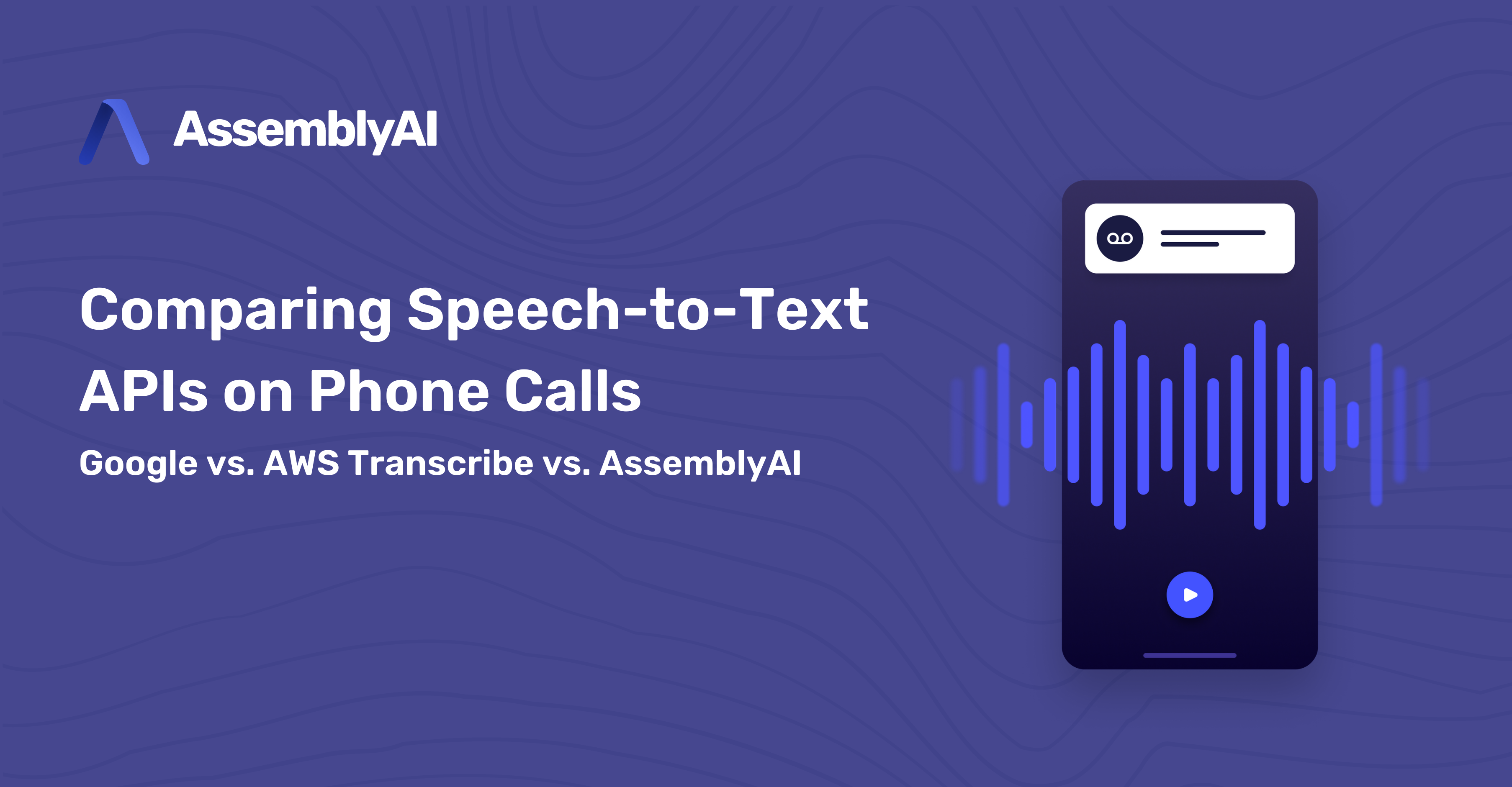 Comparing Speech-to-Text APIs on Phone Calls (Google, AWS Transcribe, AssemblyAI)