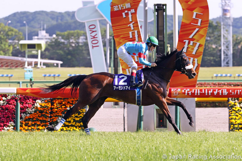 Almond Eye winning the Grade 1 Victoria Mile at Tokyo, picture Japan Racing Association
