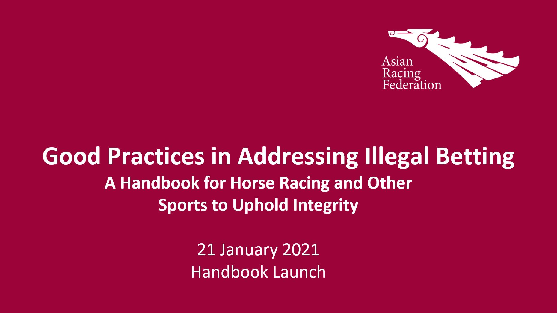 ARF Handbook Launch: Good Practices in Addressing Illegal Betting