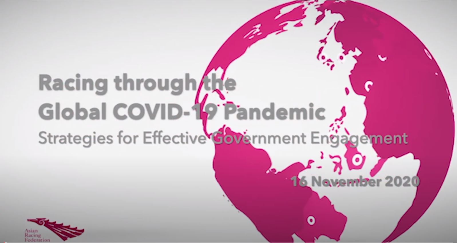 Racing Through the Global COVID-19 Pandemic Webinar: Strategies for Effective Government Engagement
