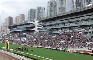 Sha Tin on the final day of the 2018/19 season on Sunday, picture Hong Kong Jockey Club