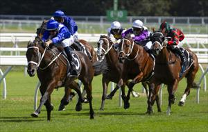 Winx (AUS) and Hugh Bowman head to the line in full command, picture Sportpix.com.au