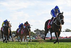 Winx and Hugh Bowman winning the 2018 Group 1 George Main Stakes at Randwick, picture Stevehart.com.au