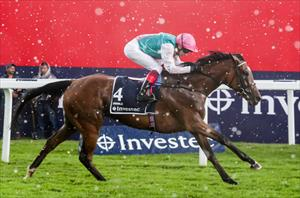 Enable and Frankie Dettori winning the Group 1 English Oaks at Epsom Downs , picture Liesl King