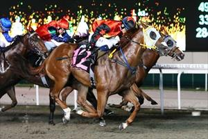 Moon Se Young opens his account at Kranji aboard Thunder Cat (No 12) on Friday, picture Singapore Turf Club