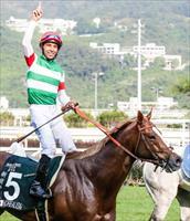 Moreira celebrates the win, picture Liesl King