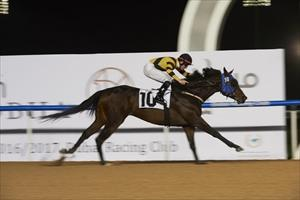 Main Stay enters the history books as the first Korean winner of a Dubai World Cup Carnival race at Meydan on Thursday after claiming the 1200m $125,000 District One Handicap, picture Dubai Racing Club and Andrew Watkins